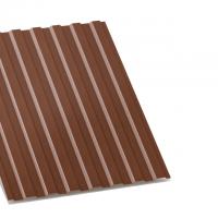 профнастил с-8 коричневый двухсторонний 0,4 мм c-8
