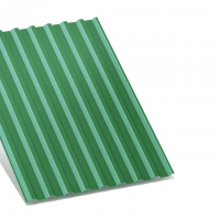 профнастил с-20 зеленый двухсторонний 0,45 мм с-20