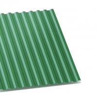 профнастил с-21 зеленый двухсторонний 0,35 мм с-21