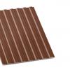 Профнастил С-8 коричневый двухсторонний 0,35 мм